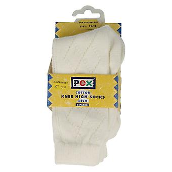 Girls PEX Patterned Cotton Knee High Socks