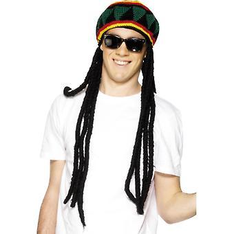 Cappello Rasta multicolor con i dreadlocks