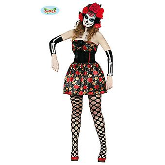 Day of the Dead Schädel Kleid Kostüm Halloween Damen