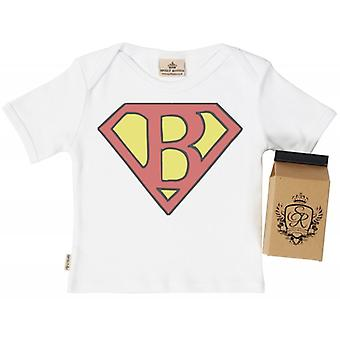 Spoilt Rotten SuperBaby Babys T-Shirt 100% Organic In Milk Carton