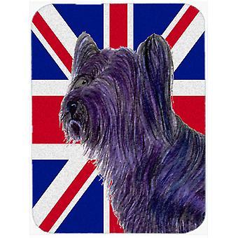 Skye Terrier anglais Union Jack drapeau britannique verre coupe Conseil grande taille
