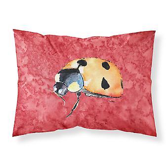 Carolines Schätze 8869PILLOWCASE Lady Bug auf rot feuchtigkeitsableitende Stoff stan