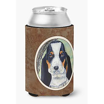 Carolines Treasures  7002CC Basset Hound on the branch Can or Bottle Hugger