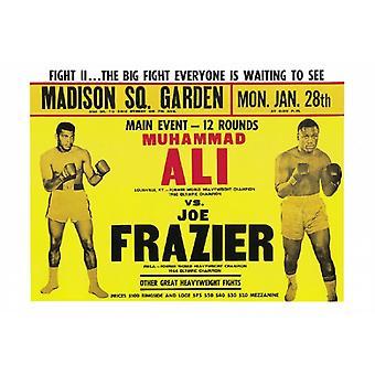 アリ vs フレイジャー II ポスター 1974 ポスター印刷 (18 x 12)