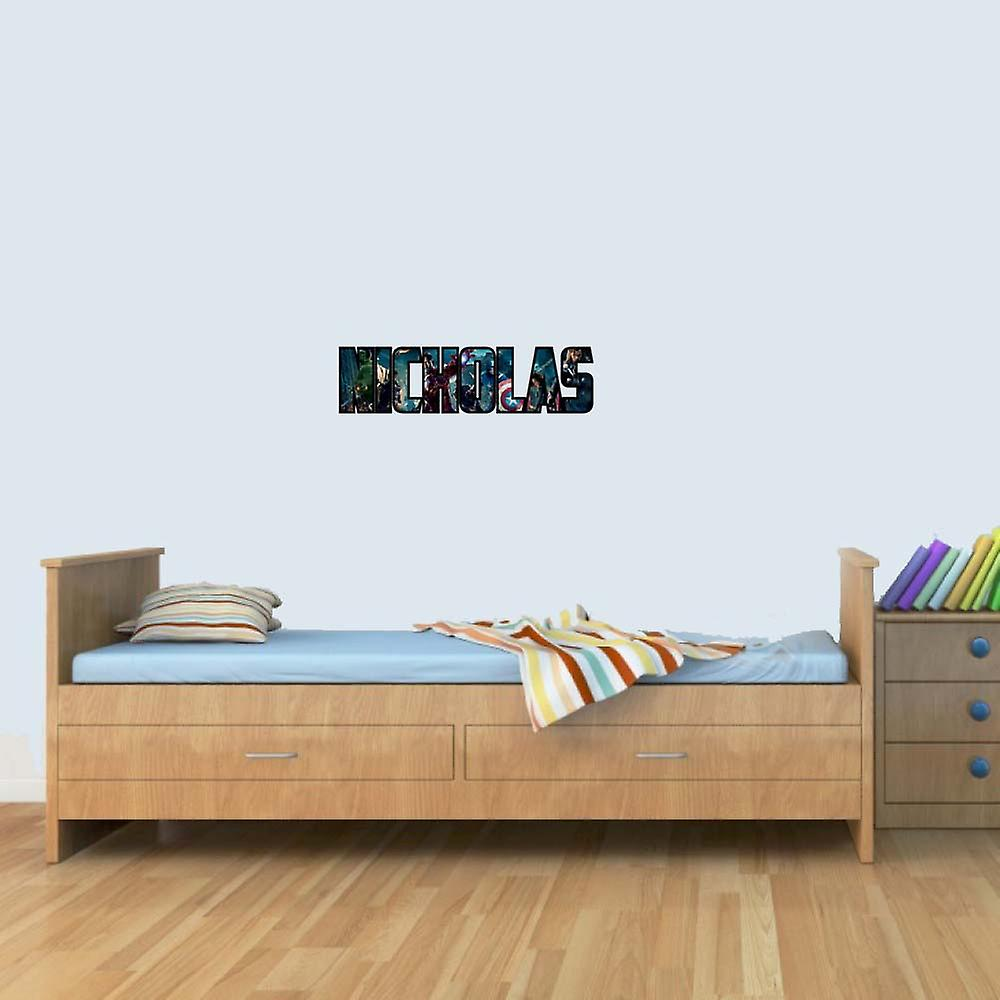 Customisable Marvel Heroes Childrens Name Stickers Wall Art Decal Vinyl for Boys/Girls Bedroom