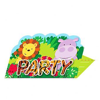 Amigos amscan selva convida & Envelopes (pacote com 8)