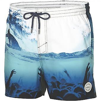 O ' Neill surf Festival Photo Art Swim Shorts, blanc/bleu