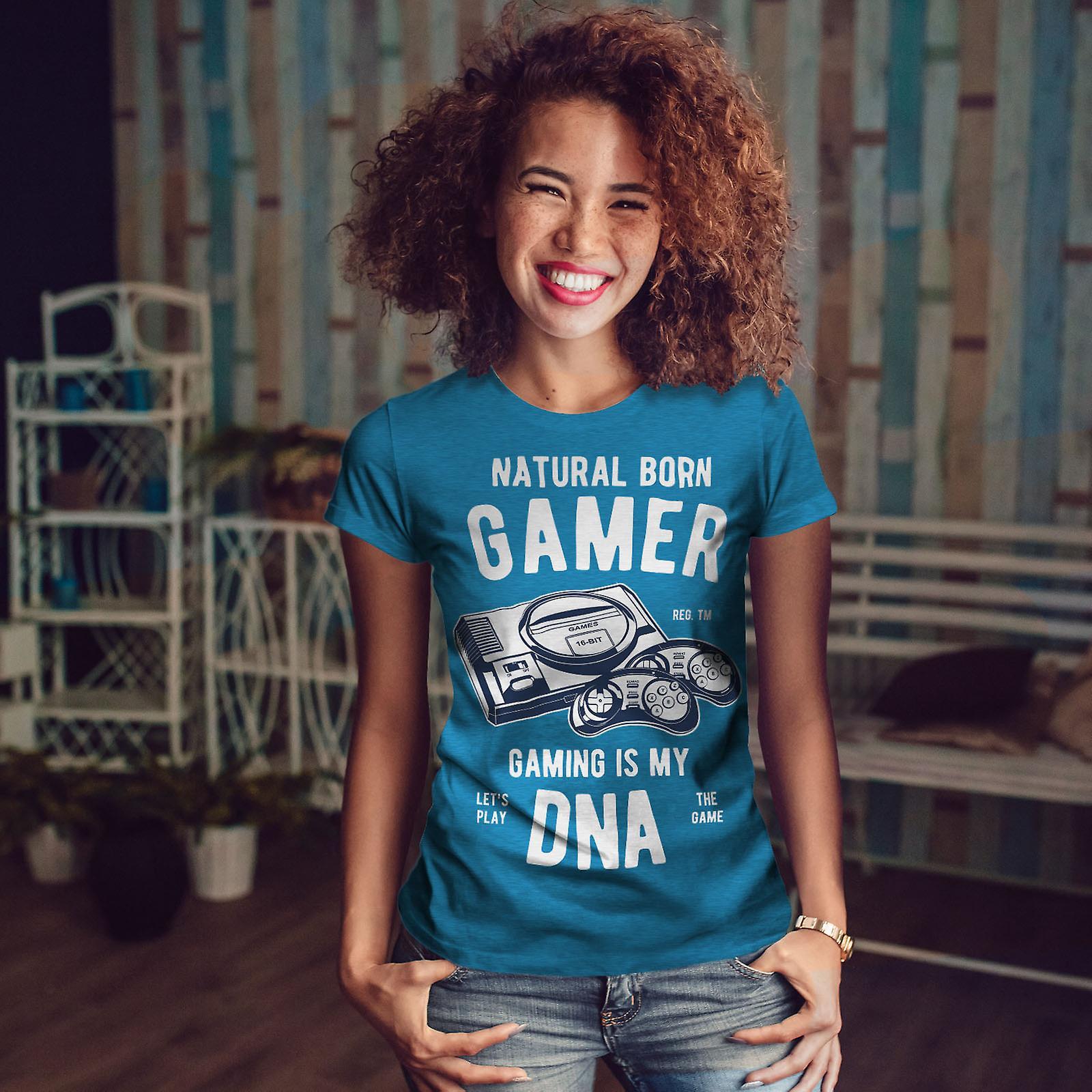 Natural Born Gamer Royal BlueT-chemise femme | Wellcoda