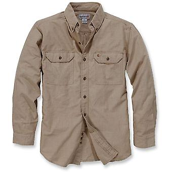 Manches longues CARHARTT Mens lavé Fort solide coton bouton chemise