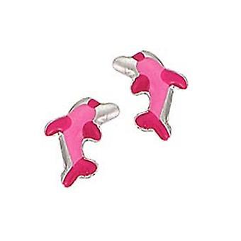Scout kinderen oorbellen oor cutter Zilveren Dolfijn roze meisje 262002100