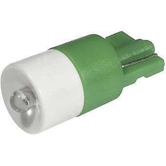 CML LED luz indicadora W2.1x9.5d verde 12 V CC, 12 V AC 2100 mcd 1511 B25UG3
