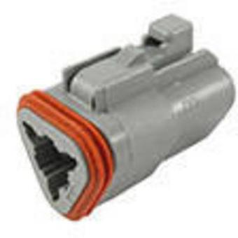 TE Connectivity DT06-3S-C015 Bullet connector Socket, straight Series (connectors): DT Total number of pins: 3 1 pc(s)