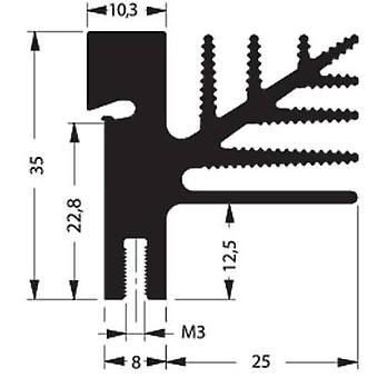 Fischer Elektronik SK 482 50 SA + 2x THFU 2 Disipador de calor de aleta 4.75 K/W (L x An x H) 50 x 33 x 35 mm A 218, A 220, A 3P, A 247, A 248
