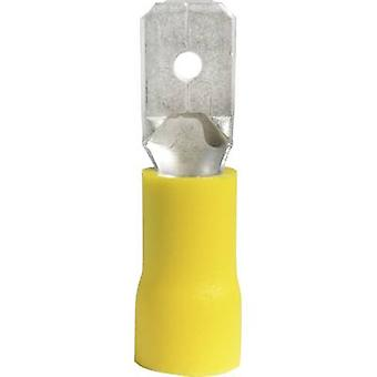 Vogt Verbindungstechnik 3912S Blade terminal Connector width: 6.3 mm Connector thickness: 0.8 mm 180 ° Partially insulated Yellow 1 pc(s)