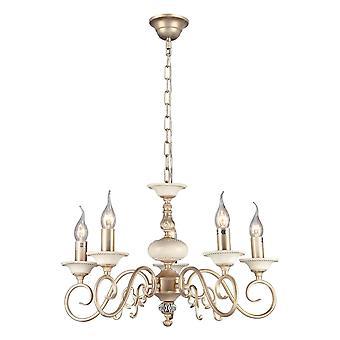 Maytoni verlichting Perla elegante kroonluchter, crème goud