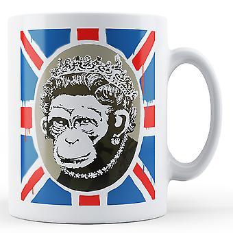 Caneca impressa Banksy - rainha macaco - BKM224