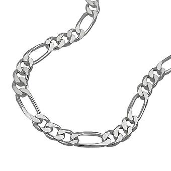 Chain 5mm Figaro flat Silver 925 55cm