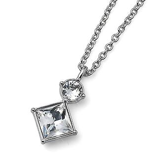 Oliver Weber Pendant Graceful Rhodium Crystal