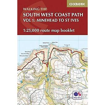 De South West Coast Path kaart boekje - Minehead naar St Ives - 1 -25-00
