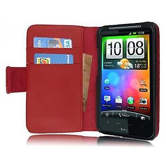 Cadorabo tapauksessa HTC DESIRE HD tapauksessa tapauksessa kansi - Liukas faux nahka puhelimen tapauksessa jalusta toiminto ja kortin osasto - Case Cover suojakotelo tapauksessa kirja taitto tyyli