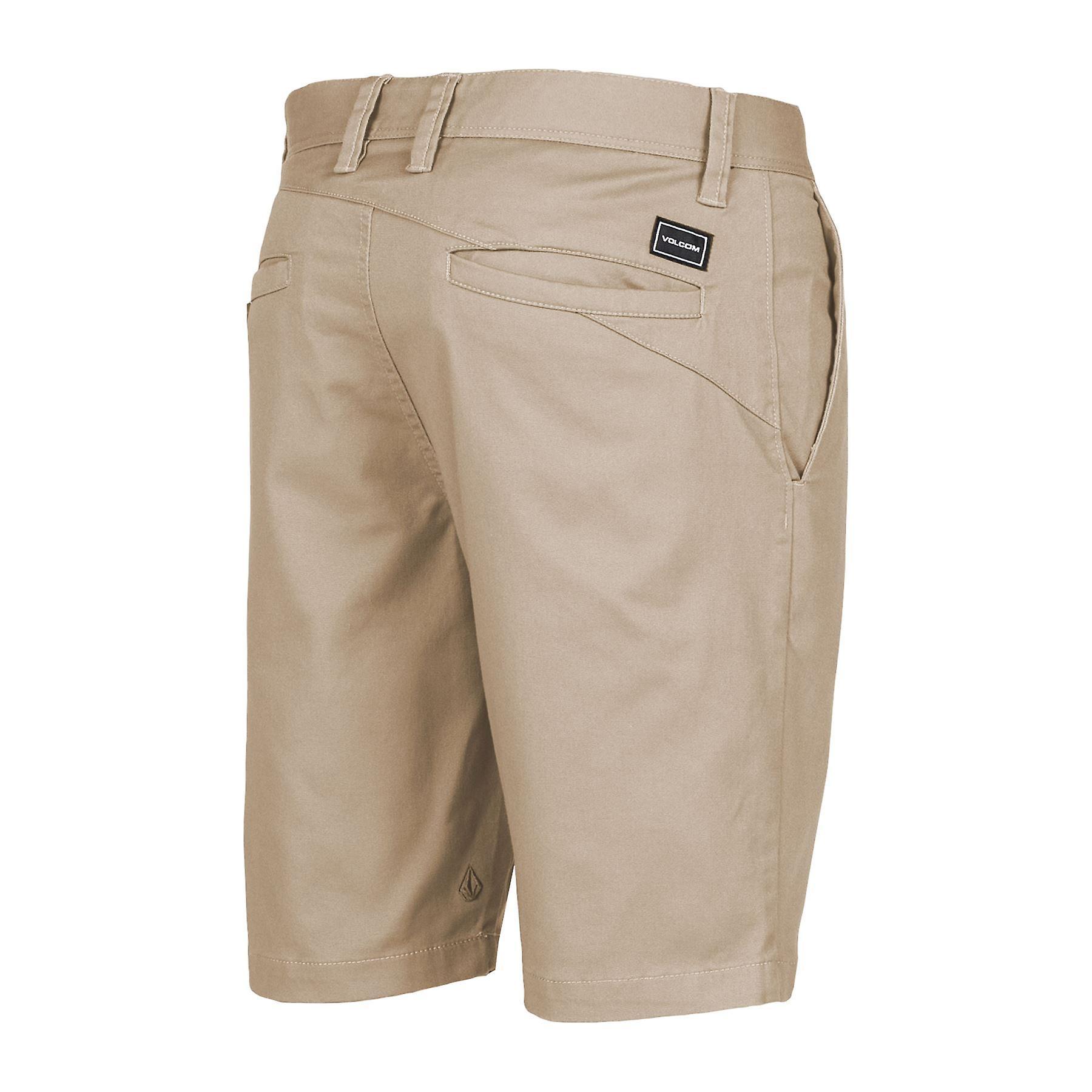 Volcom Men's Stretch Shorts ~ Frickin Modern Stretch khaki