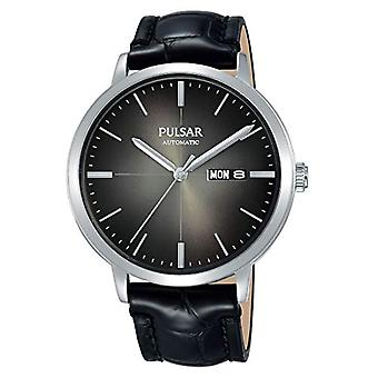 Pulsar Analog automatic men's watch with leather PL4045X1