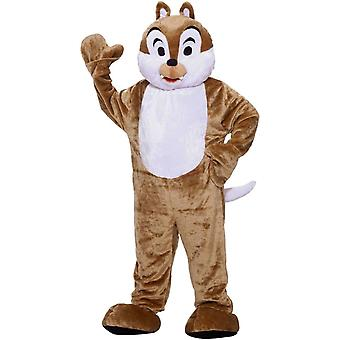 Tamia mascotte Costume adulte