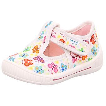 Superfit meisjes pesten 4-265-10 Canvas schoenen wit vlinder Print
