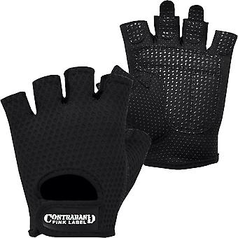 Contraband Sports 5307 Pink Label Diamond Mesh Weight Lifting Gloves - Black