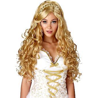 Godin Blonde pruik voor vrouwen