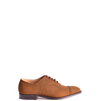 Church's Ezbc004012 Men's Brown Suede Lace-up Shoes