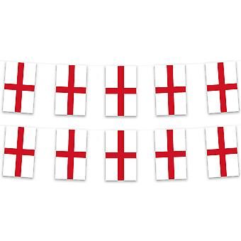 England Bunting 5m 12 Bunts Polyester Fabric Country National