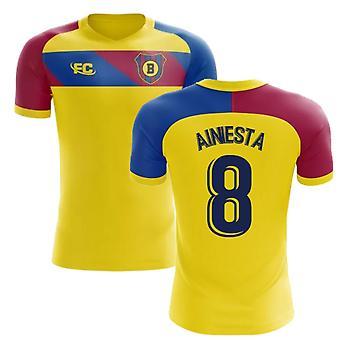 2018-2019 Barcelona Fans Culture Away Concept Shirt (A.Iniesta 8) - Kids