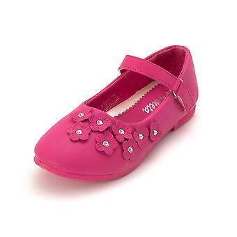 Kids Ameta Girls Happy-06k   Mary Jane Flats