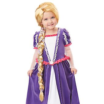 Rapunzel Tangled Disney Princess Blonde Braid Story Book Week Girls Costume Wig