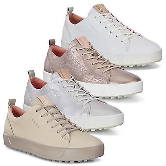 Ecco mujeres suave impermeable transpirable cuero zapatos de golf