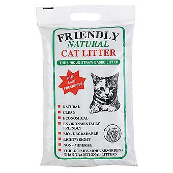 La camada de gato natural amigable