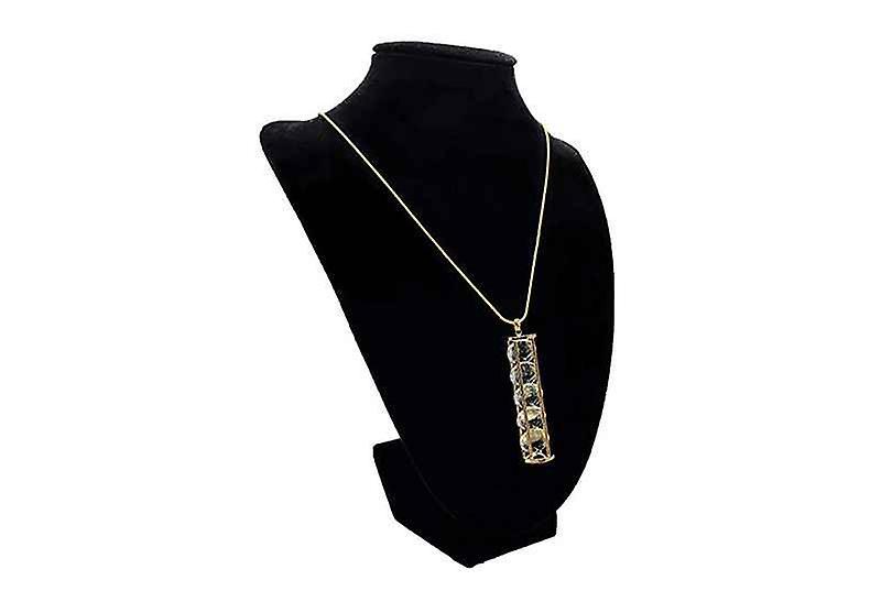 Long Antique Precious Time Zen Pendant Necklace