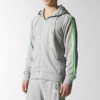 Adidas Sport Essentials 3 Stripe Zip Hoodie S12908