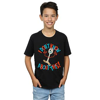 Disney Boys Toy Story 4 Forky I Don't Know About This T-Shirt