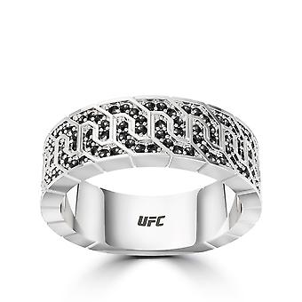 UFC Diamond Ring In Sterling Silver Design by BIXLER