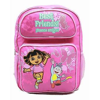 Backpack Dora the Explorer Running w/Boots Flowers (Large Bag) 39497