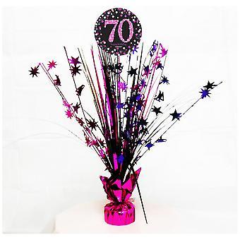 Amscan kuohuviiniä vaaleanpunainen juhla 70 syntymäpäivä ydin Spray