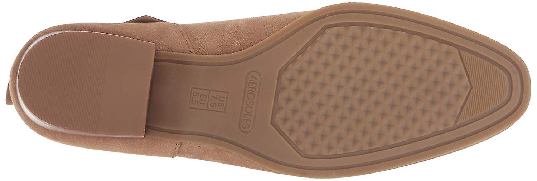 Aerosoles Womens Crosswalk Leather Almond Toe Ankle Cowboy Boots