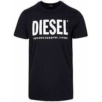 Diesel Black Diego print logo T-skjorte