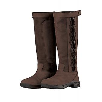 Dublin Pinnacle II botas de couro das mulheres-chocolate