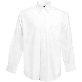 Fruit Of The Loom - Mens Oxford Long Sleeve Shirt