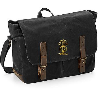 Royal Scots Fusiliers Veteran - Licensed British Army Embroidered Waxed Canvas Messenger Bag
