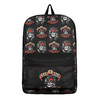 Guns N Roses Backpack Bag Appetite For Destruction Rocker Skull Logo Official