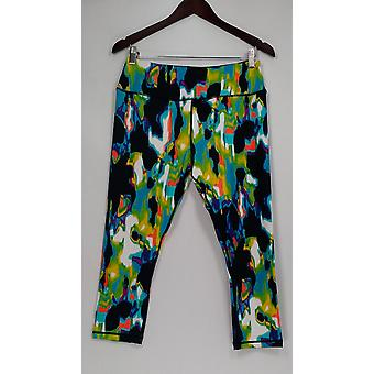 cee bee CHERYL BURKE Women's Pants Printed Pull-On Cropped Blue A278041